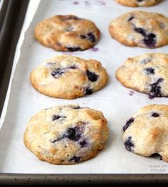 Vegan Blueberry-Almond Cookies