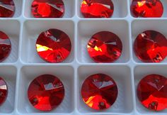 72 PCS Red Round Glass Sew on Stones, Glass Rhinestones for belly dance costumes Embroidery, Trimming Glass stones (14mm Diameter) Flat back by Luxorbazaar on Etsy