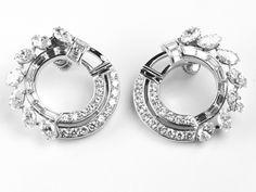Platinum Diamond clip earrings D4.70ct  http://www.luciecampbell.com/earrings/All/1026--3/  £9500  richard@luciecampbell.com  Lucie Campbell Jewellers Bond Street London  http://www.luciecampbell.com
