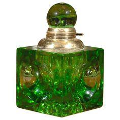 English Art Deco Inkwell: