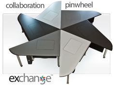 Collaboration Furniture, Collab Education Furniture, Collaborative Computer Conference Tables-- the Exchange™ Collaboration Table System by SMARTdesks Concrete Furniture, Modular Furniture, Unique Furniture, Co Working, Working Area, Classroom Desk Arrangement, Classroom Furniture, Office Furniture, Conference Table