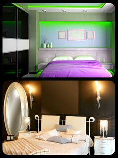 Artificial lighting in various shapes and sizes should be part of the decorating plan for a gloomy room. When aesthetically used in different heights and locations, good lighting can light a full vertical wall. Recessed lightings brighten up the ceiling without being obtrusive to the eyes. A dimmer switch provides versatile lighting control.