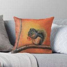Personalized Pillow Cases, Custom Pillow Covers Little Red Squirrel Throw Pillow Case - Personalized Pillow Cases, Custom Pillow Cases, Throw Pillow Cases, Custom Pillows, Pillow Covers, Throw Pillows, Red Squirrel, Little Red, Soft Fabrics