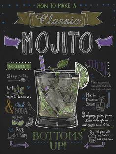 Mojito chalkboard design