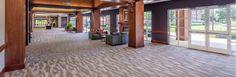 Milliken carpet tiles prove durability and performance at Clemson University's Madren Conference Center. Design and photo by LS3P Associates LTD.