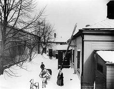 Signe Brander: Konstantininkatu 32:n piha (nyk. Meritullinkatu), 1907 © Helsingin kaupunginmuseo