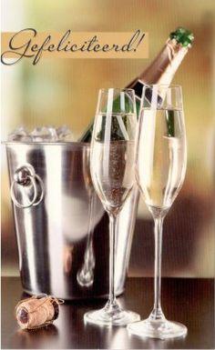 hartelijk gefeliciteerd champagne