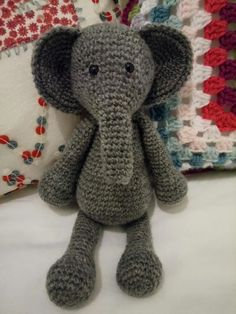 Bridget the Elephant Crochet Pattern Level 1 Beginner CD