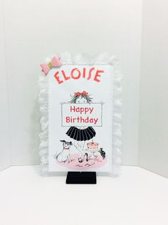 "15"" Eloise Centerpiece,birthday Decorations,Sweet table Decorations,Baby Shower,Party Supplies,Eloise in Paris by LoveToFiesta on Etsy"