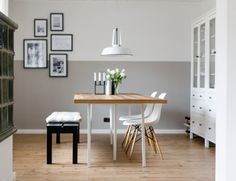 Our kitchen {tips for a more comfortable kitchen - Home Page White Dining Room Sets, Dining Table In Living Room, Dining Bench, Scandinavian Living, Scandinavian Interior, Staircase Makeover, Dinner Table, Home And Living, Coastal Living
