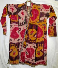 Ikat coat, Central Asia, mid 20th century