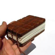 Melt Proof Chocolate Sandwich Notebar  Rosewood Hand by tanjasova