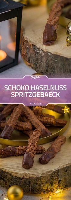 Schoko Haselnuss Spritzgebaeck Rezept Chocolate Recipes, Cookie Decorating, Christmas Cookies, Food And Drink, Xmas, Candy, Snacks, Kakao, Baking
