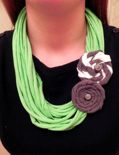 t-shirt scarf necklace