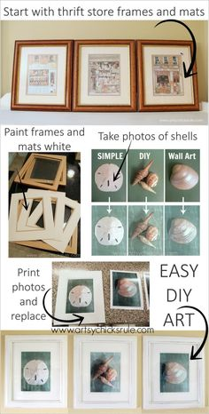 Simple and Thrifty DIY Coastal Wall Art {Tutorial}