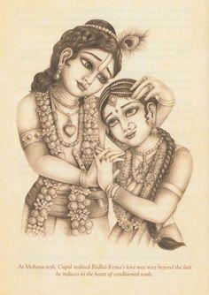 Radha - Krishna Krishna Leela, Radha Krishna Love, Hare Krishna, Radha Krishna Sketch, Krishna Drawing, Krishna Painting, Radhe Krishna Wallpapers, Hindu Deities, Hinduism