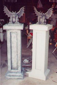 Columns for my gargoyles. Must make these!!!