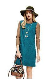 #Vestido recto de antelina, #dress
