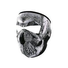 foulard moto tete de mort  full face mask scarf ski moto neoprene cadeau biker