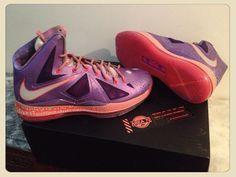 Lebron X - AS - Area 72 Pack (LSR PURPLE/STRT GRY-TTL CRMSN) #Sneakerhead