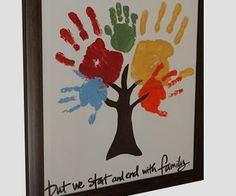 Handprint family tree father's day kids craft gift idea art for kids, crafts for kids Kids Crafts, Cute Crafts, Crafts To Do, Arts And Crafts, Easy Crafts, Preschool Crafts, Decor Crafts, Cool Diy Projects, Projects For Kids