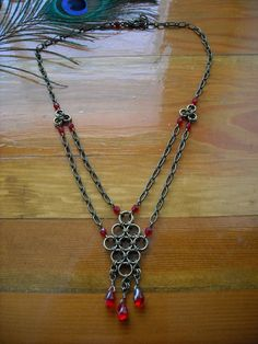 Chain Maille necklace with beads