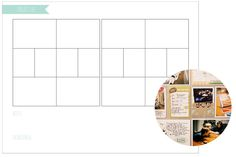 Project life page planner example/printable from Marcy Penner
