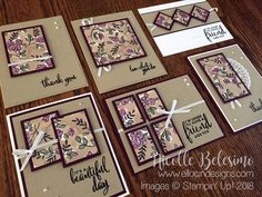 6 x 6 One Sheet Wonder Project with Share What You Love Specialty Designer Series Paper is part of Scrapbook Layout Templates One Sheet Wonder - 2 x 11 inch paper! Some are super simple, while some are pretty intricate However, regardless[Read more] Card Making Tutorials, Card Making Techniques, Making Ideas, Making Cards, One Sheet Wonder, Stamping Up Cards, Card Patterns, Card Sketches, Paper Cards