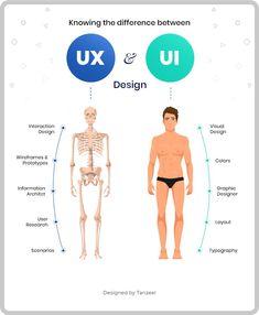 UI vs UX Design - What's the difference (Infographic) - #design #Difference #Infographic #UI #UX #whats Design Management, Content Management System, Design Thinking, Design Logo, Graphic Design Tips, Design Design, Web Ui Design, Design Layouts, Dashboard Design
