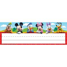 Mickey Mouse Clubhouse Self-Adhesive School Name Plates | Eureka School