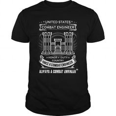 Awesome Tee COMBAT ENGINEER ALWAYS A COMBAT ENGINEER Shirts & Tees