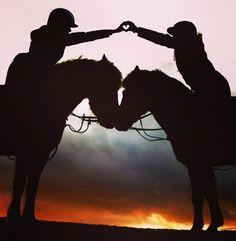 Sunset horseback riding ♥