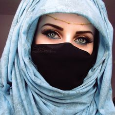 Beautiful eyes of hijabi