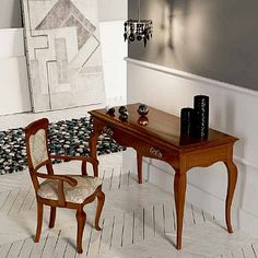 Wooden, with beautiful handles, incredible shape and vintage style. My Italian Living. Modern Dining Table, Dining Tables, Vintage Fashion, Vintage Style, Contemporary Furniture, Office Desk, Furniture Design, Minimalist, Living Room