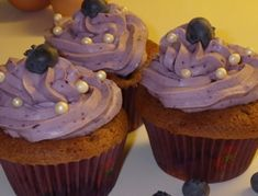 Heidelbeer-Schoko-Cupcakes