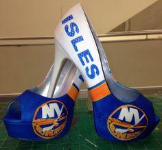 Custom Islanders Heels #heels #sexy #isles #NYI #islanders