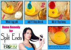 Home Remedies for Split Ends | Top 10 Home Remedies