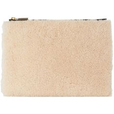 Whistles Shearling Medium Clutch (€51) ❤ liked on Polyvore featuring bags, handbags, clutches, evening hand bags, evening purses clutches, beige purse, shearling handbags and special occasion handbags