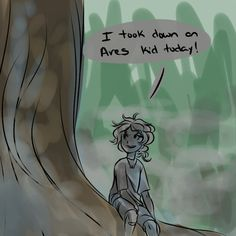 annabeth and her giant tree best friend thalia because this is totally how it went shut up my word is law