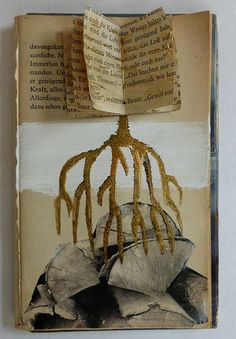 story about transformation. altered book by Ines Seidel