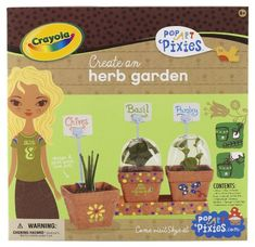 Crayola Pop Art Pixies Herb Garden - http://www.majestytoys.com/crayola-pop-art-pixies-herb-garden/