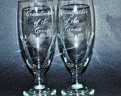 5 Etched Pilsner Beer Glasses, Personalized Pilsner Glasses, engraved Pilsner Glasses, His and Hers Gift, Wedding Favor for Dads, 16oz