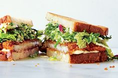 Find the recipe for Chicken Cutlet Sandwiches with Savoy Cabbage Slaw and other bread recipes at Epicurious.com
