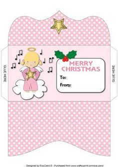 Christmas Angel with Star Money Wallet on Craftsuprint - Add To Basket!