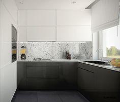 Kuchnia w marmurze- Kitchen and marble; interior design architect Marcin Śliwiński Poland;  https://www.facebook.com/architectmarcinsliwinski?fref=ts