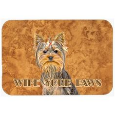 "Caroline's Treasures Yorkie / Yorkshire Terrier Wipe Your Paws Kitchen/Bath Mat Size: 20"" H x 30"" W x 0.25"" D"