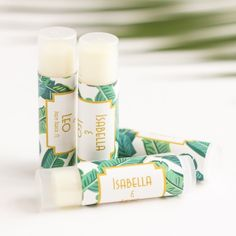 Personalized Tropical Lip Balm Party Favor