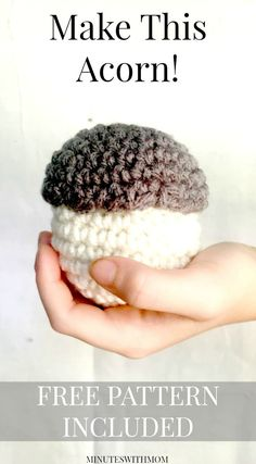 Make a Jubo Acorn! Free Pattern Included!