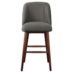 "The Threshold??™ Millsboro Barstool 31"" is inspired by an era in which cocktail hour was a solid routine. This mid-century barstool has a comfy cushioned seat with a supportive back. The seat sits atop four mid-century-style tapered legs. The look of this counter stool is both vintage and timeless, and versatile enough to blend with traditional or contemporary pieces."