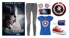 """Team Cap"" by xfandomsneverdie ❤ liked on Polyvore featuring Converse, M.i.h Jeans and Essie"
